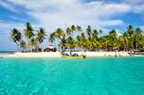 Caribbean tropical Island, San Blas, Panama. Traveling America. - 77638634