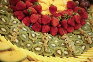 Composizione colorata di frutta