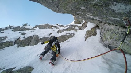 Extreme winter climbing, Western italian Alps