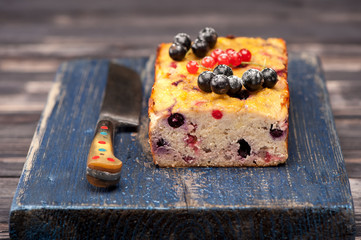 Summer Cake with berries. Gluten free.