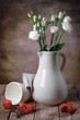 eustoma in the old vase