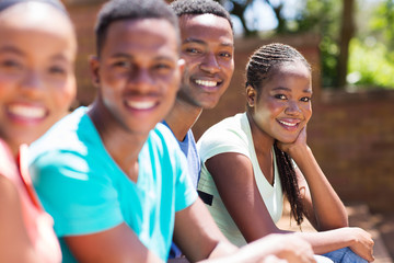 young afro american univeristy students