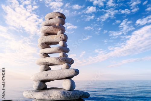 canvas print picture Stones on sky background