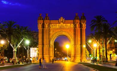 Triumphal arch in   Barcelona, Catalonia
