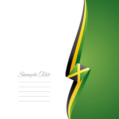 Jamaica right side brochure vector