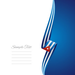 Cuba right side brochure vector