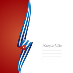 Cuba left side brochure vector
