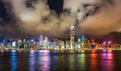 Hong Kong skyline over Victoria Harbour