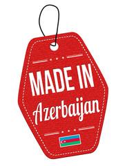 Made in Azerbaijan label or price tag