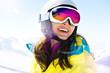 Leinwanddruck Bild - Skiurlaub