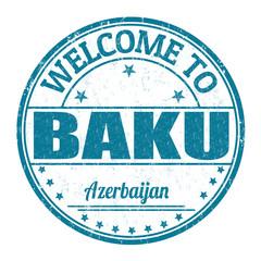 Welcome to Baku, Azerbaijan stamp