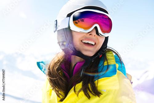 Leinwanddruck Bild Skiurlaub