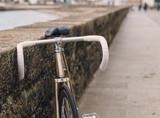 Fixie bike in a boardwalk