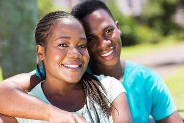 african couple close up portrait
