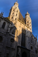 Catholic Cathedral St. Stephen's Cathedral in Vienna under the s