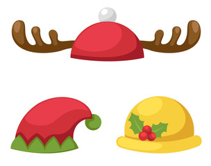 hat set isolated vector illustration