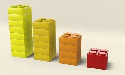 Grafico blocchi colorati
