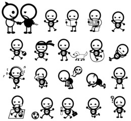 Mr. Surly expression and activity icon collection set, create by