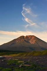 Stokap volcano at sunset.