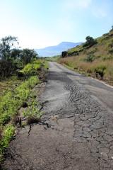 Bad road surface