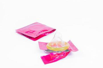 unwrap yellow condom