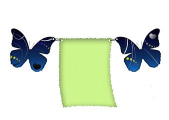 Schmetterlinge mit Zettel - Butterfly