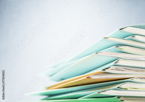 Files.Pile of document close up shot. - 77654632
