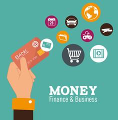 Money design, vector illustration.