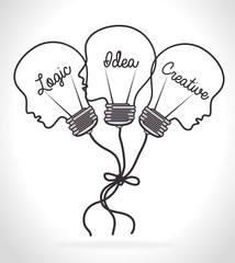 Idea design, vector illustration.
