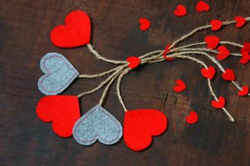 red heart, Valentine day