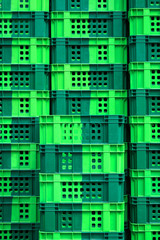 Empty green crate