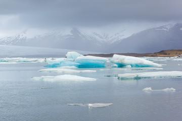 Icebergs in Jokulsarlon Glacier Lagoon, Iceland
