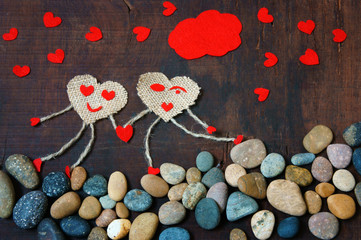 Valentine day, symbol of love, red heart