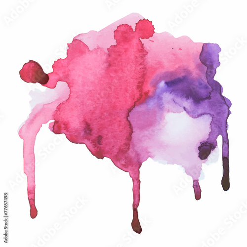 watercolor blot, background, isolated on white background
