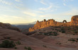 Sunrise Panorama of Delicate Arch, Arches National Park