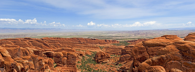 Panorama of Lanscape in Arches National Park