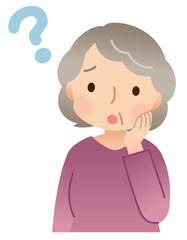 疑問 高齢者 女性