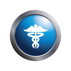 Health icon. Medical icon. Caduceus symbol.