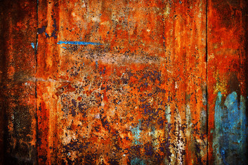 rusty metal background shabby and old paint