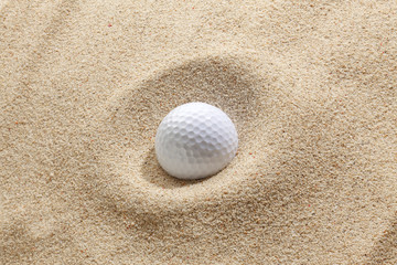 Golf-ball in bunker