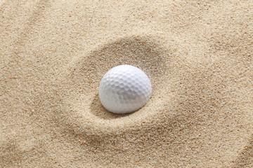 Golf-ball in bunker