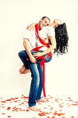 Влюбленная пара на день святого валентина