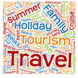 Conceptual tourism or travel  word cloud