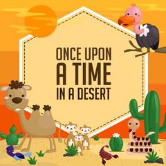 desert animal card