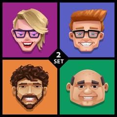 Funny face illustration-set 2
