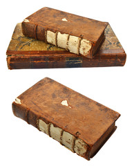 Isolated set with old books
