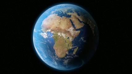 Earth Orbit Night - City Lights from Space (no Sun) 4K