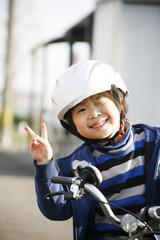 自転車と男の子