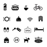 set of icons for hotel service - 77663046