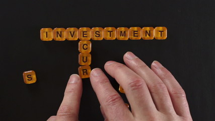 Letter Blocks Spell Investment Security
